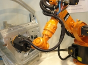 K-Robot: Automated 3D scanning on sheet metal door